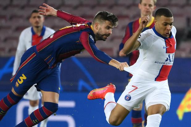 "Barça-PSG: la presse salue l'""ouragan"" Mbappé"