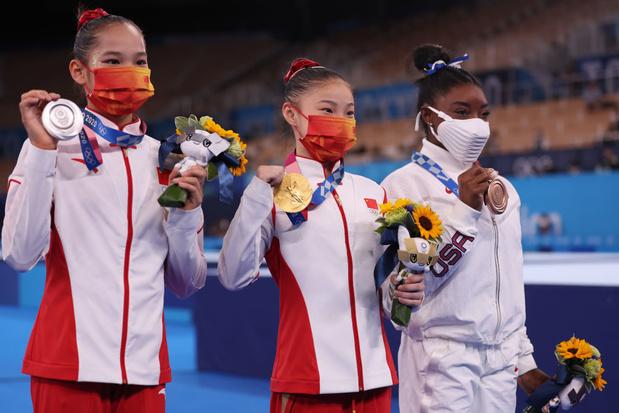 Simone Biles repart de Tokyo avec une médaille de bronze à la poutre, l'or pour une Guan Chenchen