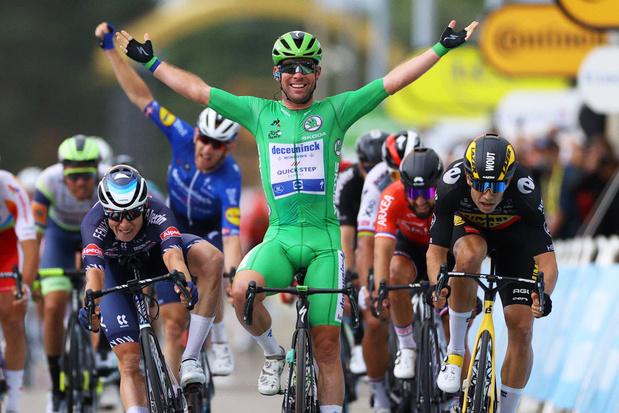 Tour de France: Cavendish devance deux Belges pour revenir à une victoire de Merckx