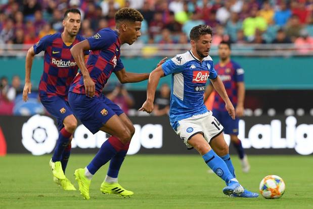Dries Mertens battu avec Naples par le Barça