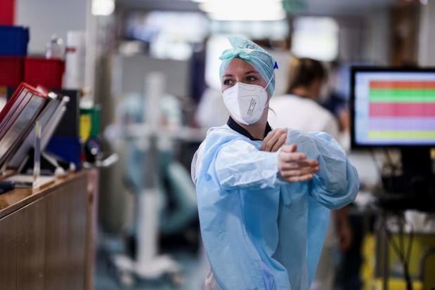 Covid en Belgique: un peu plus de 250 admissions à l'hôpital en moyenne par jour