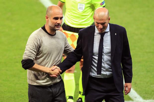 Ligue des champions: Zidane et Guardiola, le regard vers les quarts