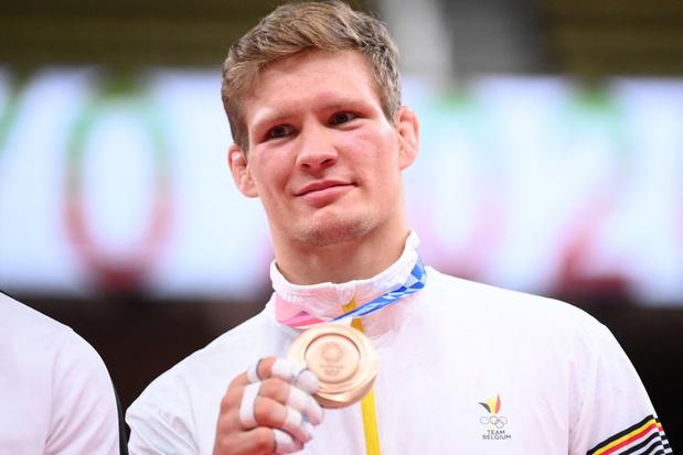 Diminué par une blessure, Matthias Casse rêvait d'or mais se satisfait de sa médaille de bronze