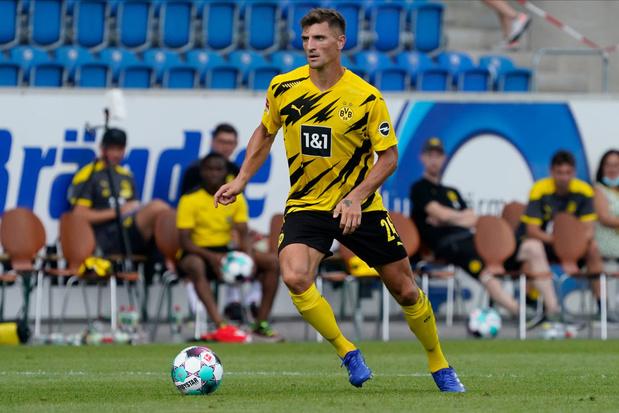 Déchirure musculaire pour Thomas Meunier lors de son premier match avec Dortmund