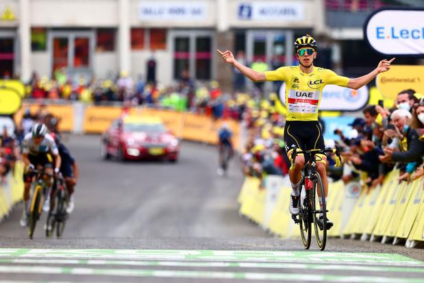 """Tour de France: Et de trois pour Tadej Pogacar qui met les pois sur les """"i"""""""