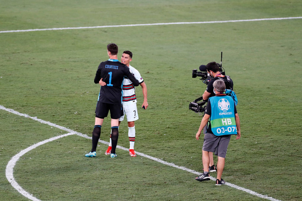 "Ronaldo à Courtois: ""Tu as eu de la chance"""