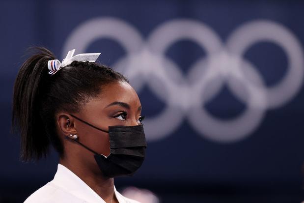 """Tokyo 2021: Simone Biles emplacée """"pour raisons médicales"""" dans le concours par équipes"""