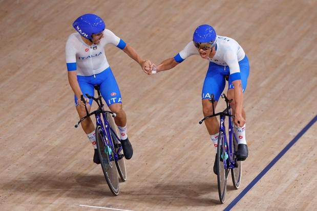 Cyclisme sur piste: Les records du monde pleuvent en poursuite par équipes avec les Italiens et les Allemandes