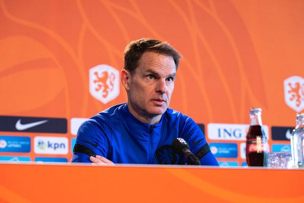 Euro: Frank De Boer voit la Belgique plus favorite que les Pays-Bas