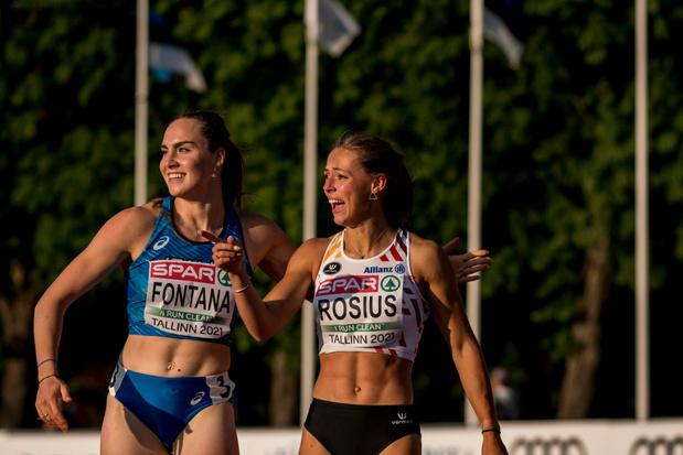 La grande promesse du sprint belge Rani Rosius, portée par le vent, réalise un chrono canon