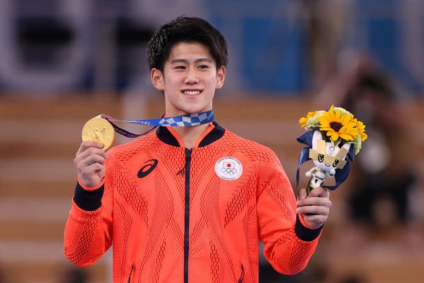 Daiki Hashimoto décroche l'or dans le concours général individuel de gymnastique