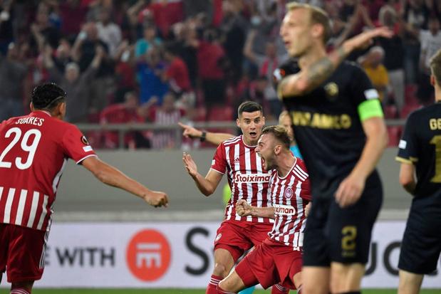 L'Antwerp craque enfin de match à l'Olympiacos, Genk arrache la victoire à Vienne dans les dernières secondes