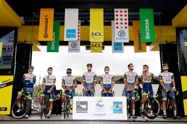 Tour de France: Intermarché-Wanty-Gobert portera un brassard noir en hommage aux victimes des inondations