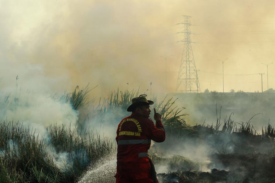 In beeld: Borneo en Sumatra kampen opnieuw met vuur en rook
