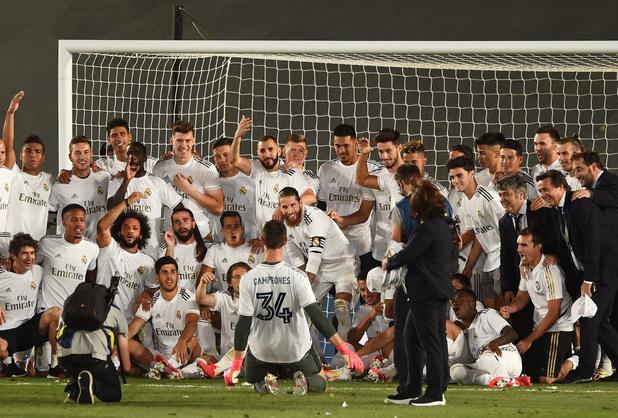 """Courtois a """"toujours cru dans l'équipe"""", c'est le """"plus beau titre"""" de Zidane"""
