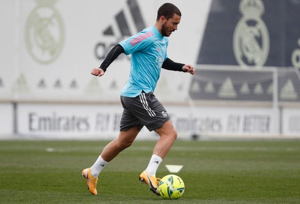 Eden Hazard de retour à l'entraînement avec le Real Madrid