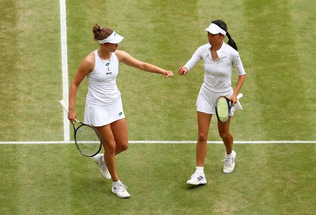 Wimbledon: Elise Mertens et sa partenaire Hsieh se hissent en finale du double dames