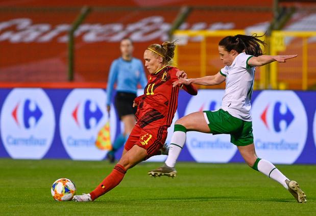 Les Red Flames opposées à l'Espagne durant leur stage de préparation