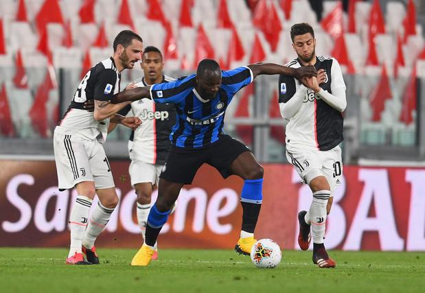 Lukaku et l'Inter s'inclinent à la Juventus dans un choc à huis clos