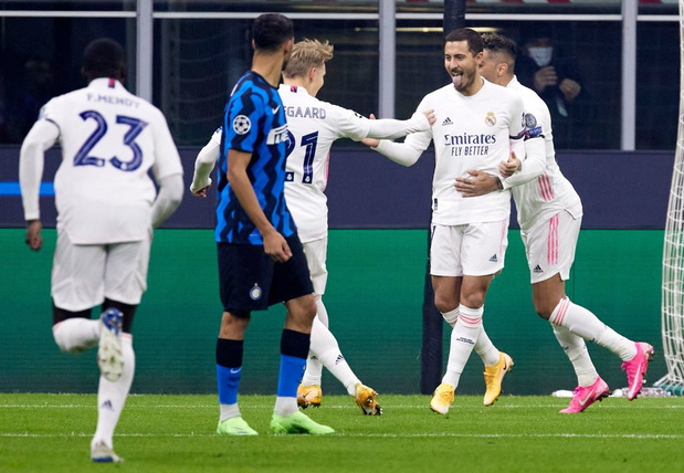 Le Real enfonce l'Inter, Eden Hazard buteur