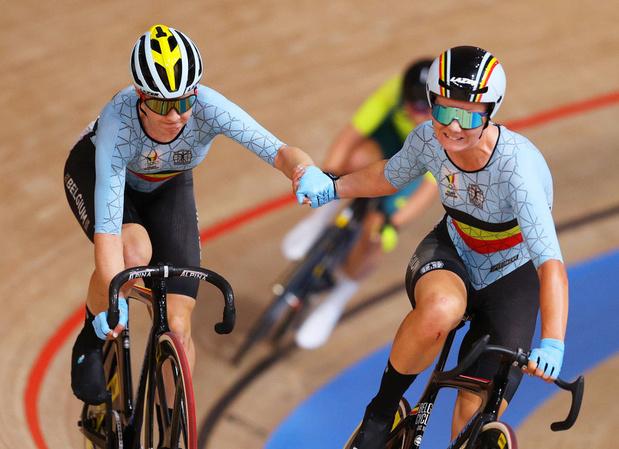 Cyclisme sur piste: Jolien D'hoore et Lotte Kopecky se loupent dans la Madison