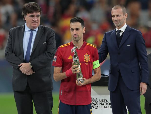 """Sergio Busquets, meilleur joueur du """"Final Four"""" de la Nations League"""