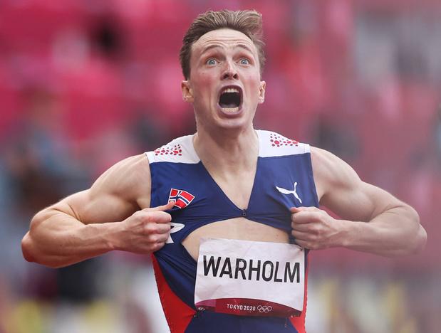 Karsten Warholm, champion olympique et recordman du monde du 400 m haies au Van Damme !