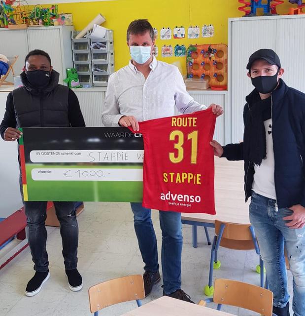 KVO'ers Siani en Berrier schenken deel van crowdfunding aan vzw Stappie