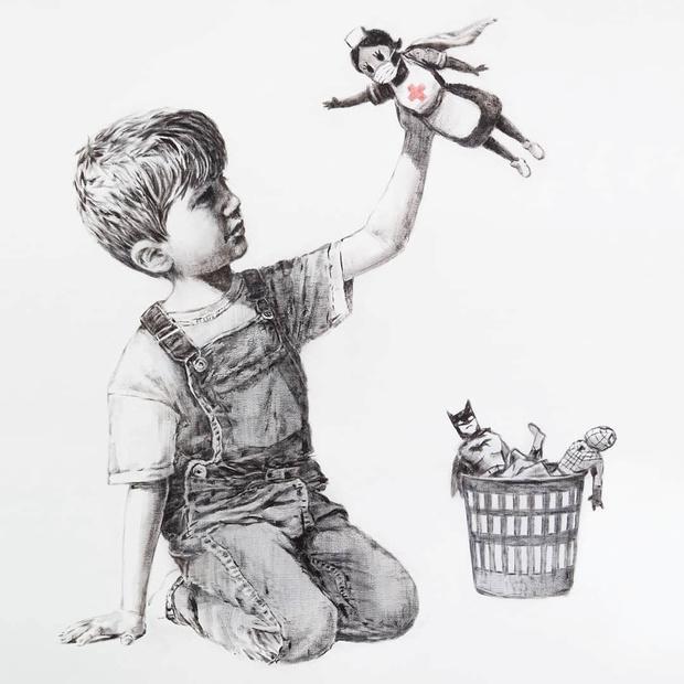 Le nouveau Banksy est un hommage au personnel médical