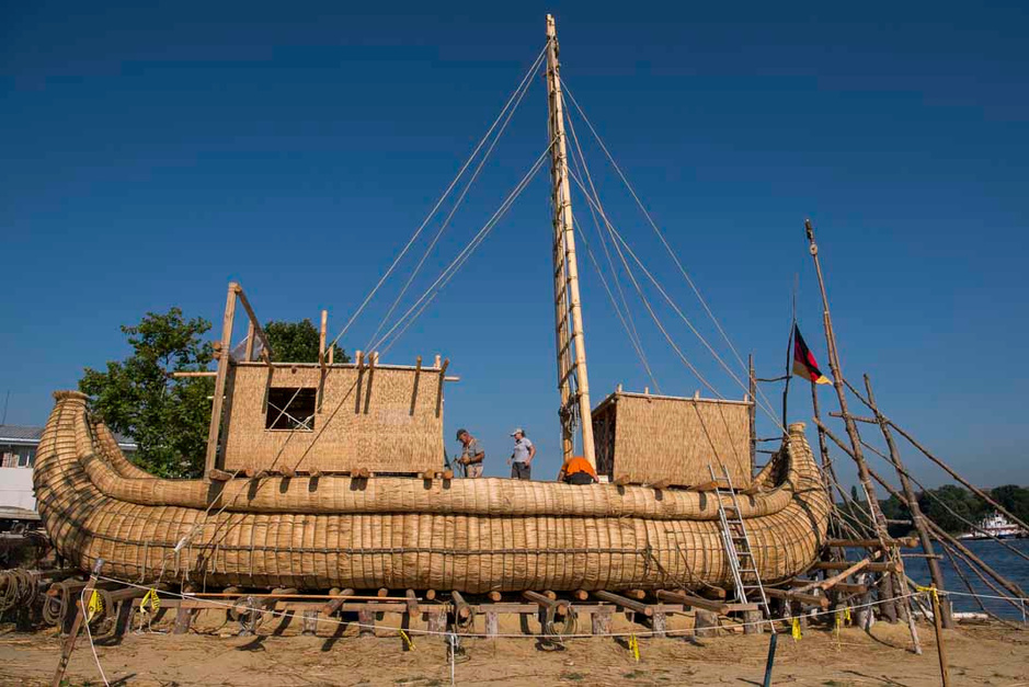 Une nef en roseaux pour traverser la Méditerranée sur les traces des Egyptiens (en images)