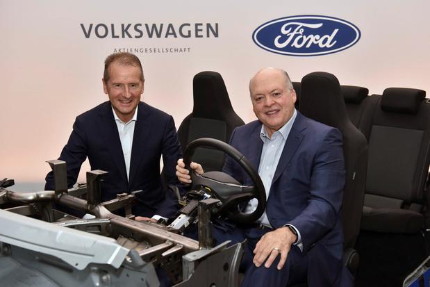 Ford et VW ensemble pour des voitures électriques autonomes