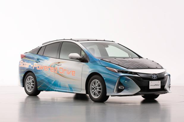 Toyota Prius rijdt op zonne-energie