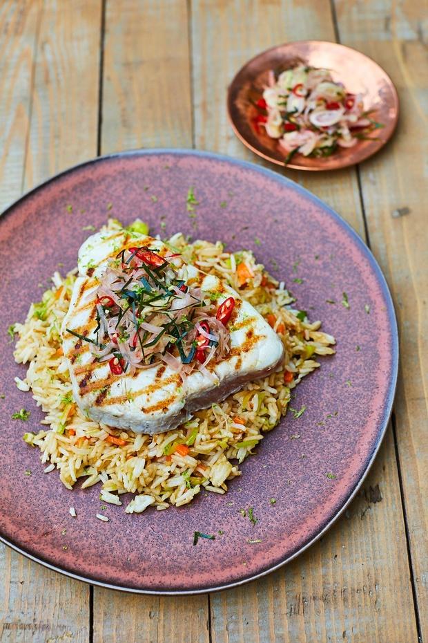 Gegrilde tonijn met Balinese sambal