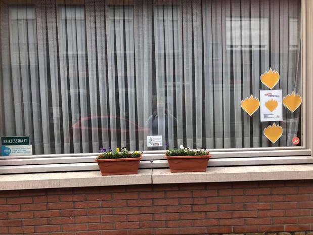 Inwoners van Wervik verrast door 200 bloembakken met viooltjes