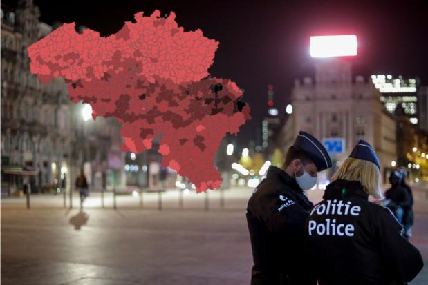 Les provinces wallonnes restent plus largement touchées: voici la situation dans votre commune (carte interactive)