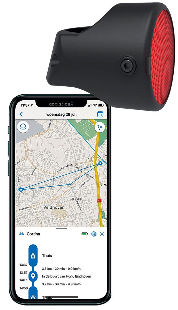 GPS-tracker voor de fiets