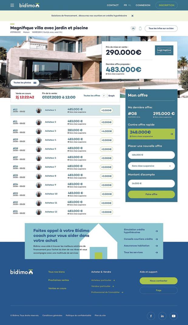 Après Beddit, Bidimo, l'autre plateforme de vente en ligne