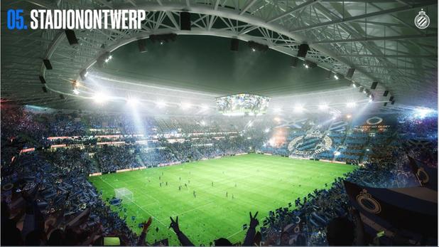 Alleen voetbal toegelaten in nieuw stadion Club Brugge