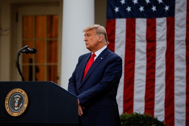Trump niet langer zegezeker: 'Tijd zal het uitwijzen'