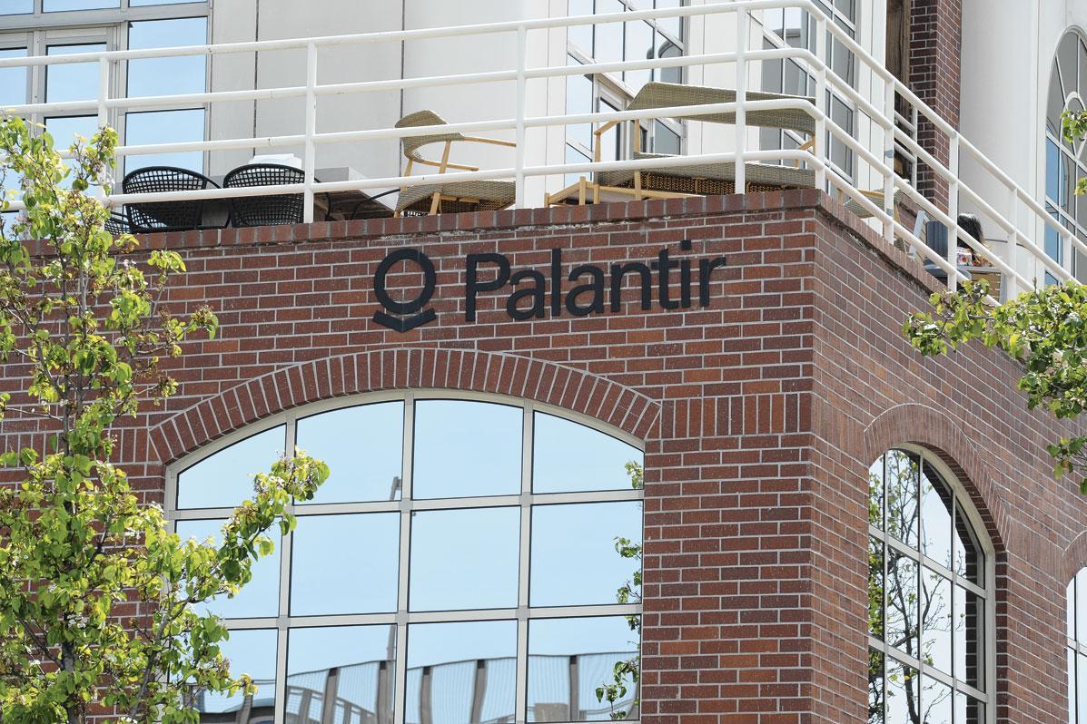 Le siège central de Palantir à Palo Alto (Californie)., BELGAIMAGE