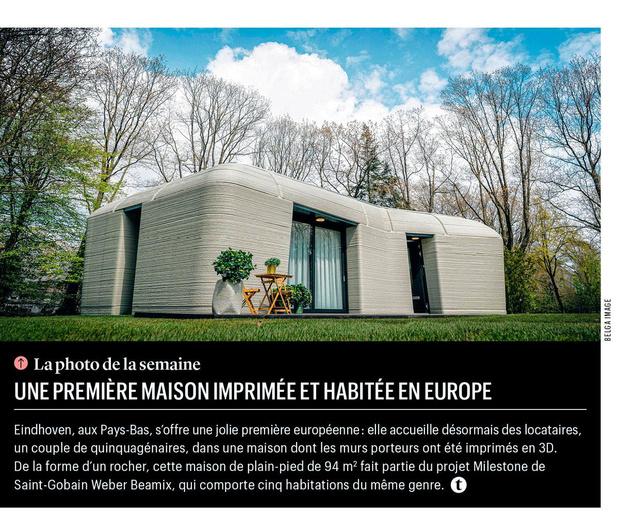 Une première maison imprimée et habitée en Europe