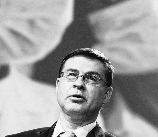 Eurocommissaris Valdis Dombrovskis
