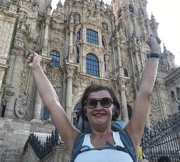 Lieve Swinnen aangekomen in Compostela