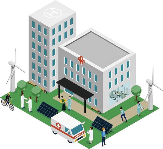 Un hôpital vert du futur... dans la verdure