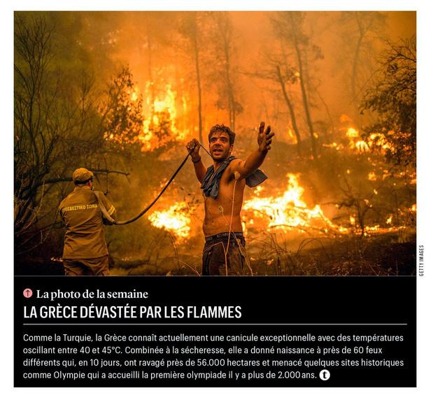 La Grèce dévastée par les flammes