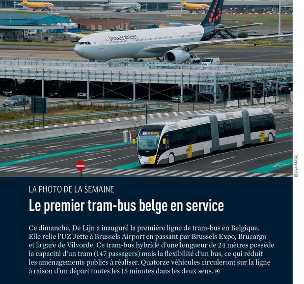 Le premier tram-bus belge en service