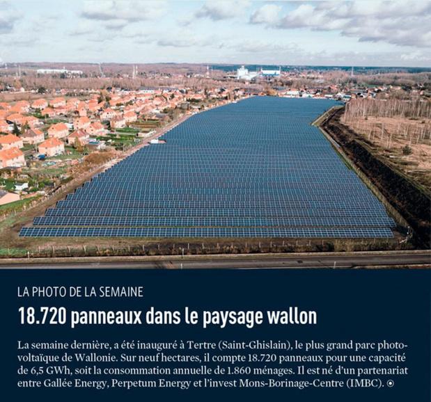 18.720 panneaux dans le paysage wallon
