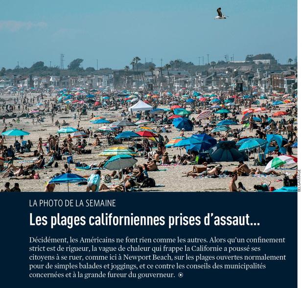 Les plages californiennes prises d'assaut...
