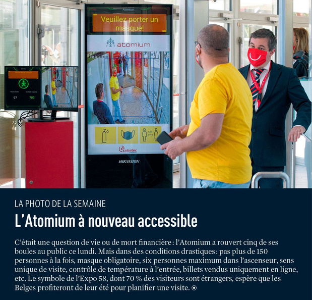 L'Atomium à nouveau accessible