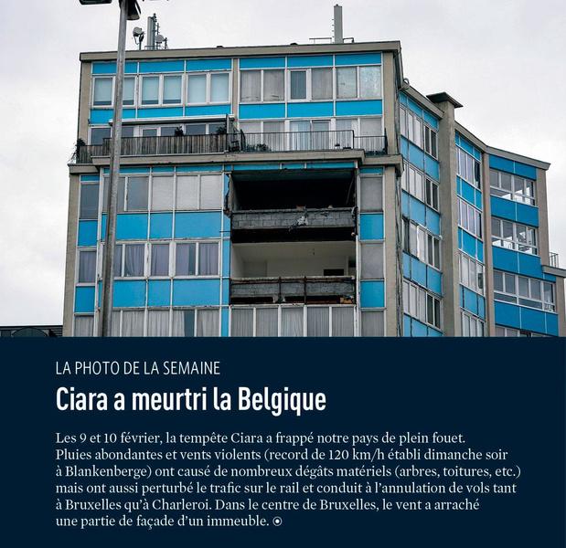 Ciara a meurtri la Belgique